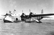Bland and white image of a sea plane